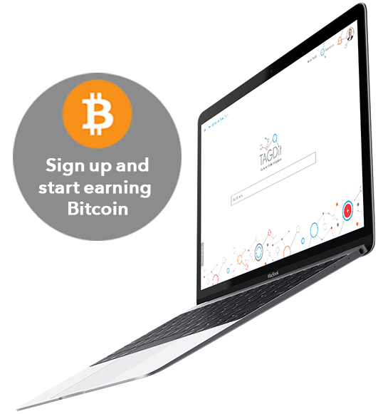 Sign up and start earning Bitcoin